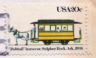 Sulphur Rock Streetcar Stamp