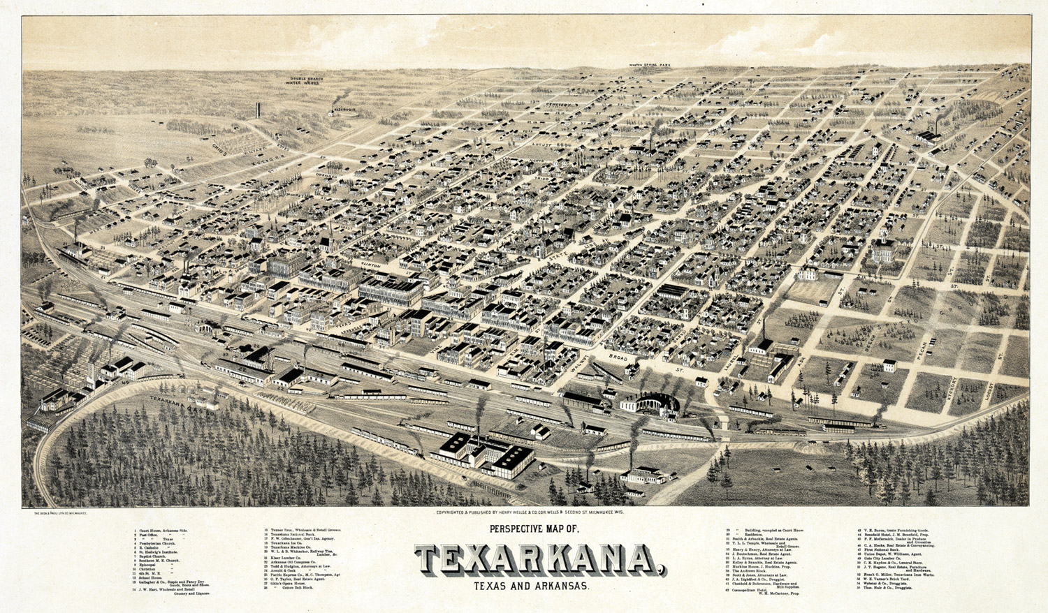 Map of Texarkana