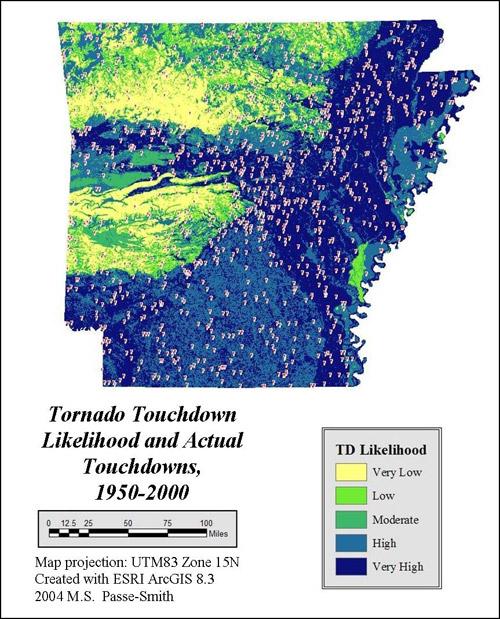 Tornado Touchdown Map