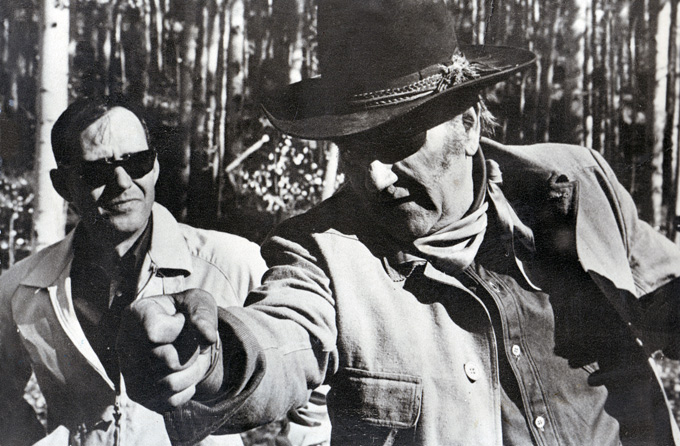 Charles Portis and John Wayne