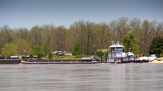 Tug and Barges on the Arkansas River