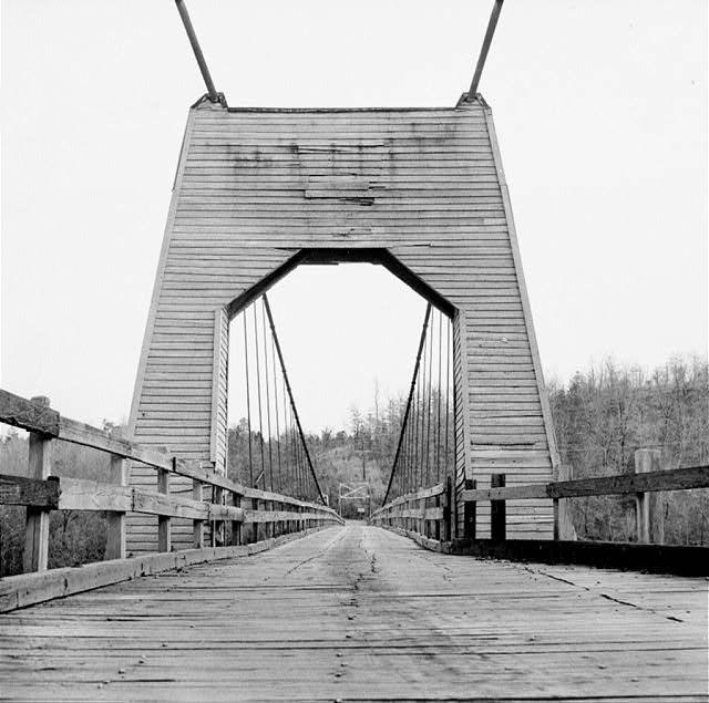 Tumbling Shoals: Suspension Bridge