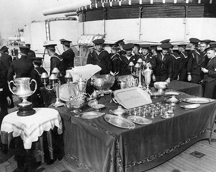 USS Arkansas Silver Service