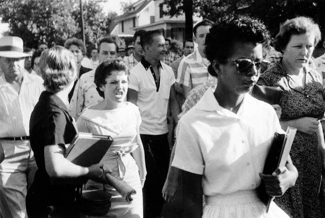 Elizabeth Eckford Denied Entrance to Central High