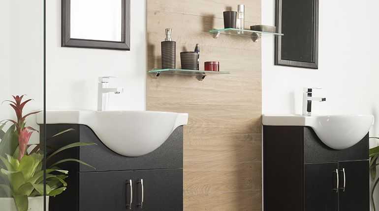 Mueble baño dark espresso