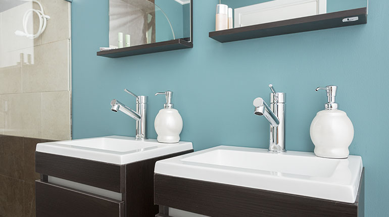 El estilo moderno es una acertada opción para su baño   Ferretería EPA