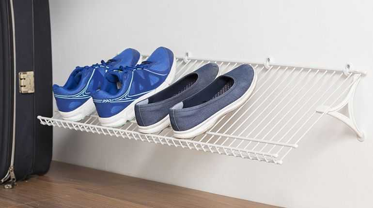 Zapatera de pared para 18 pares color blanco