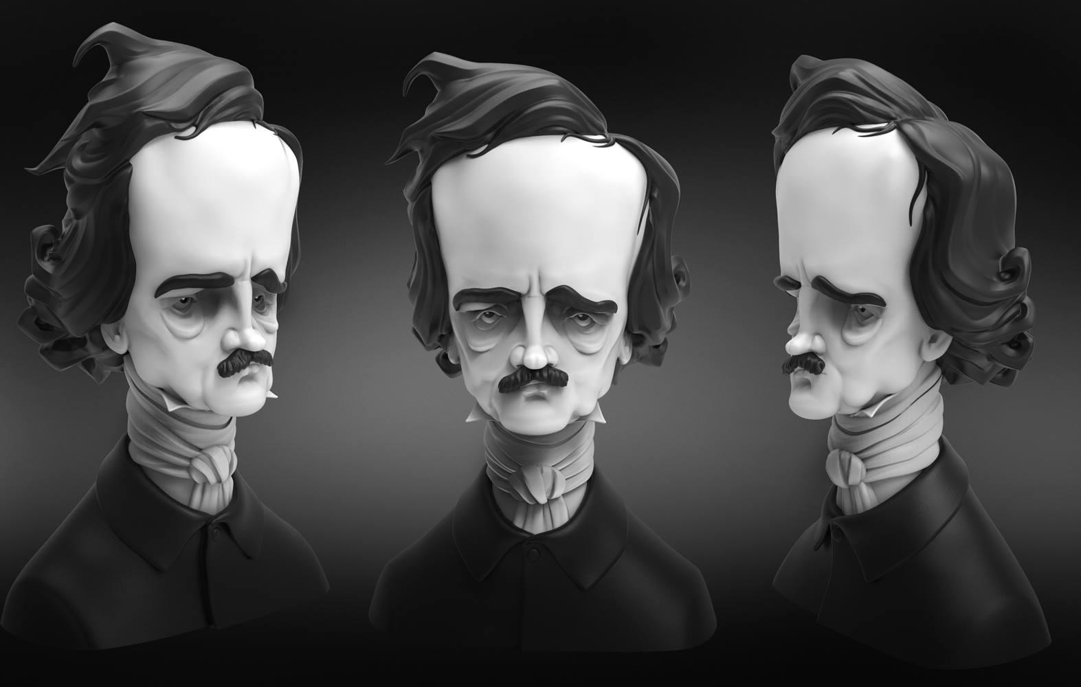 Poe Bust Panorama