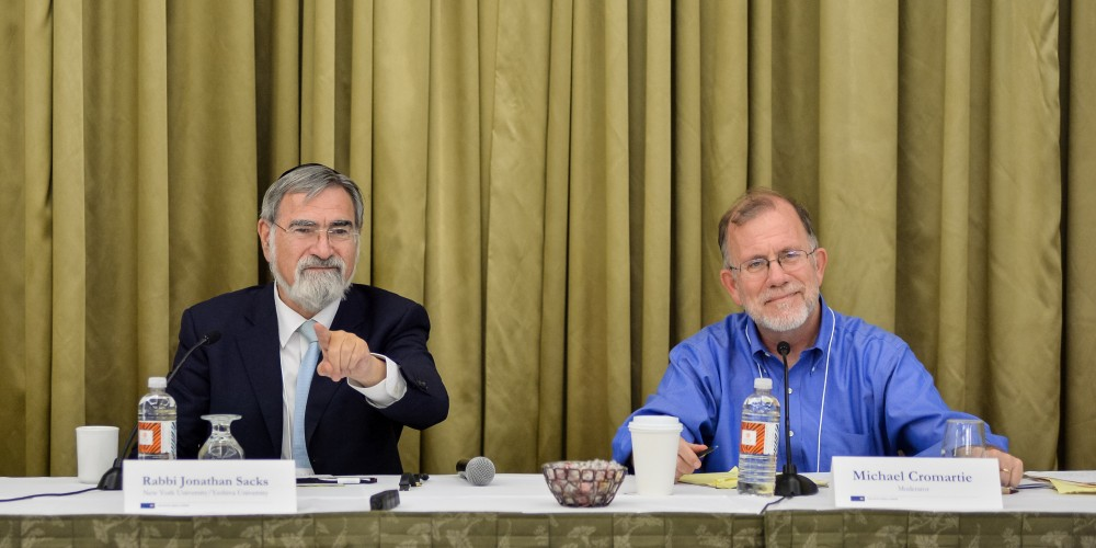 Rabbi Jonathan Sacks and Michael Cromartie