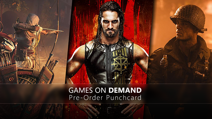 Games on Demand Pre-Order Punchcard
