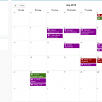 View due items within the calendar