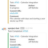 iPhone 6 slack view of commits