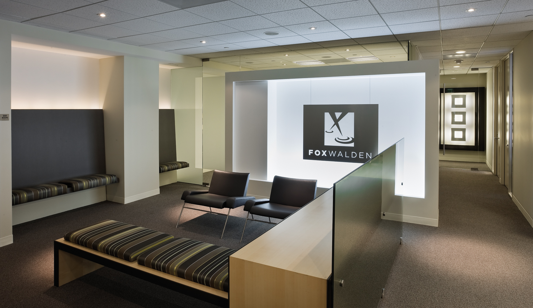 Epsteins project team provided full interior design services and lighting design for the 10000 square foot expansion of creative office space on the 10th