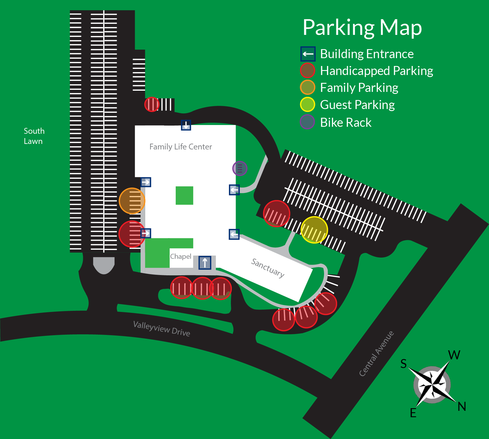 Epworth Parking Map