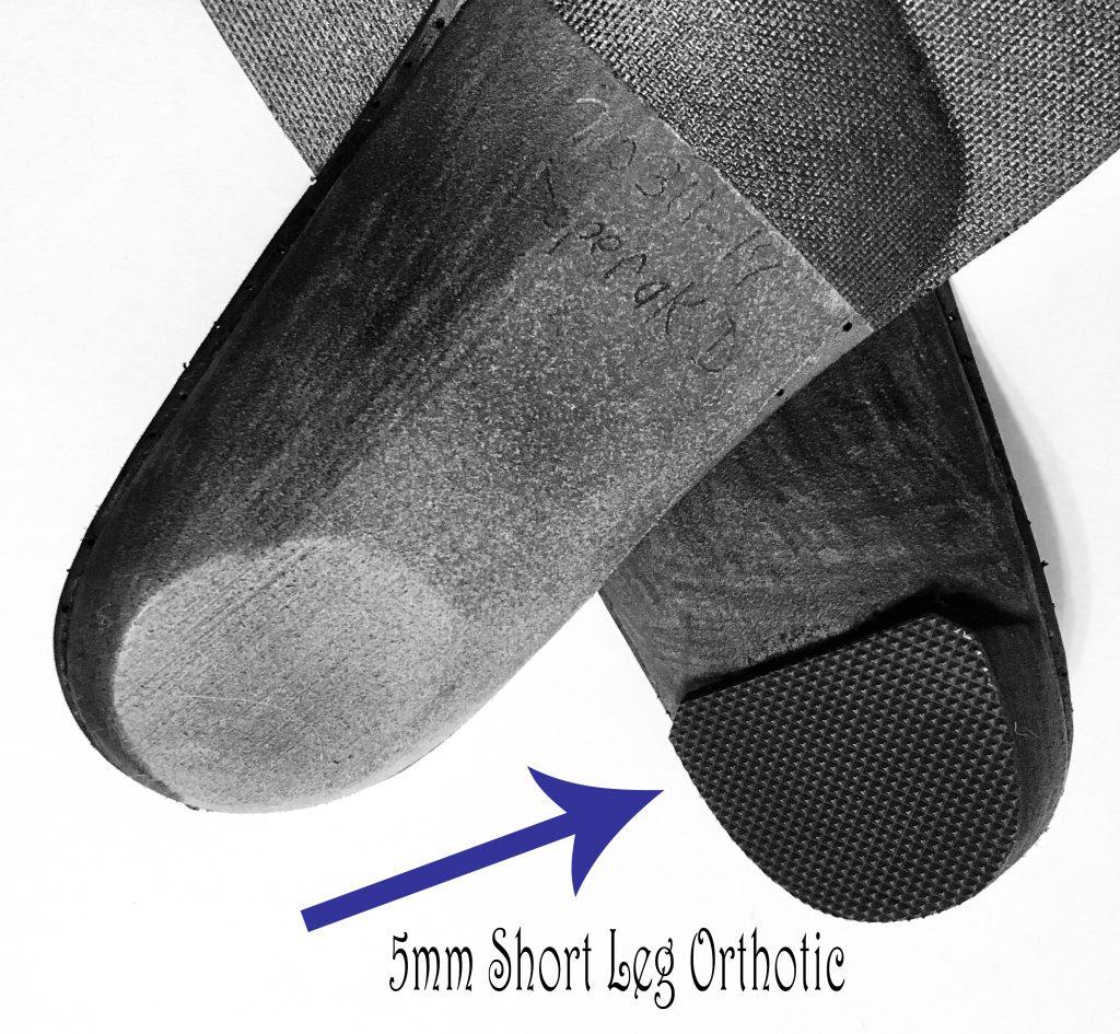 short leg orthotic 5mm