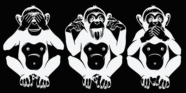 silent short leg. see no evil, hear no evil, speak no evil