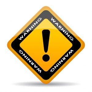 warning sign - buyer beware