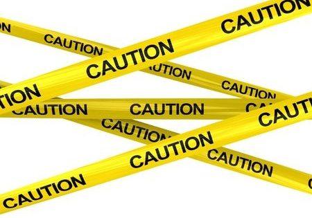 caution tape, buyer beware