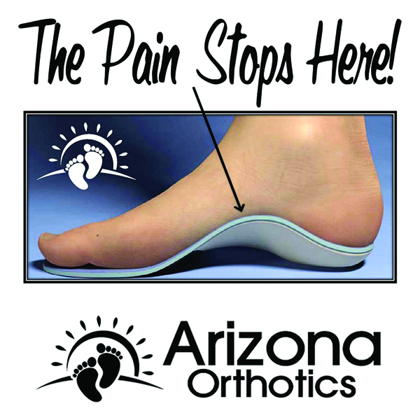 custom foot orthotic side view with foot on top