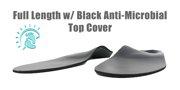 Black Matrix Top Cover Full Length Custom Foot Orthotics