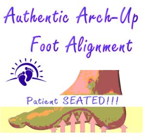 Authentic Arch-Up Foot Alignment
