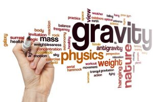 words scattered: gravity, weight, mass, physics...