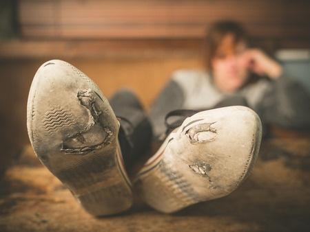 worn shoe soles
