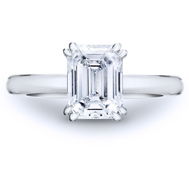Classic solitaire for  an emerald cut