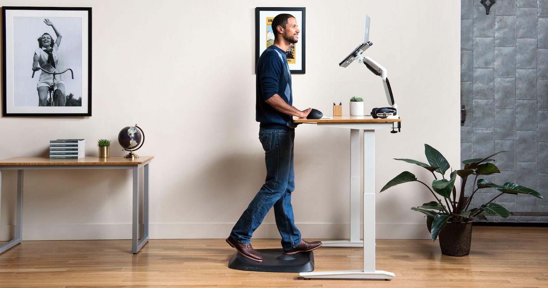 Topo By Ergodriven Not Flat Standing Desk Anti Fatigue Mat