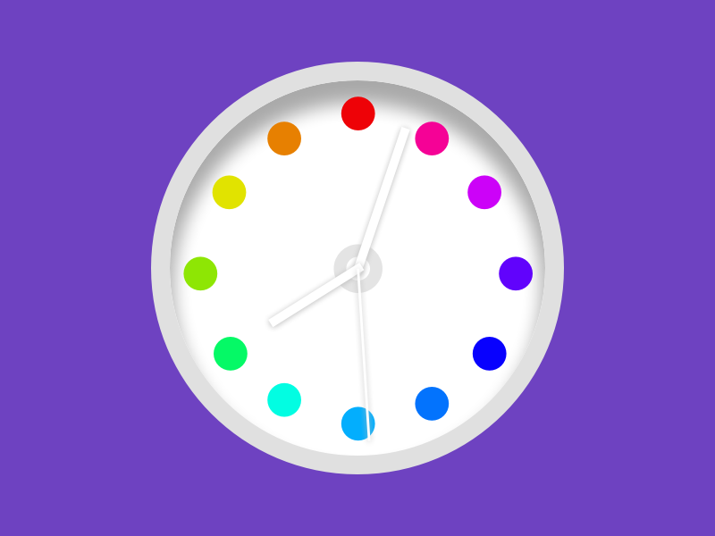 Colorful-Dots-Clock