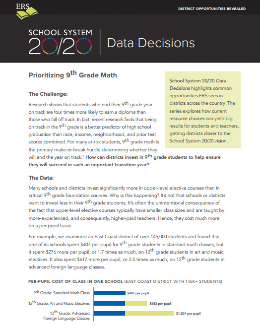 Data Decisions Brief #1: Prioritizing 9th Grade Math