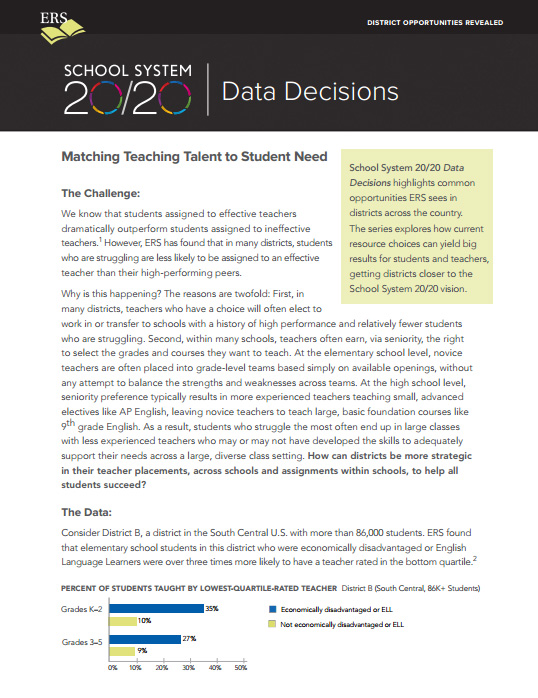 Data Decisions Brief #2: Matching Teaching Talent to Student Need