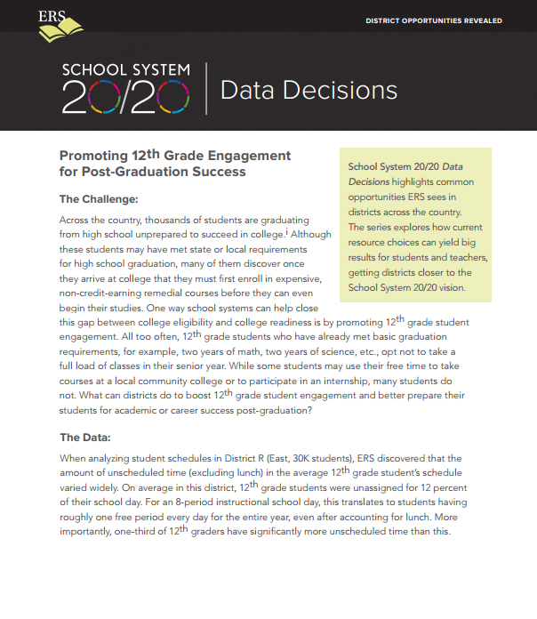 Data Decisions Brief #4: How Much Free Time Do 12th Graders Really Have?