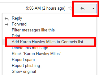 "Email settings blog: Gmail browser ""Add to Contacts"" button"