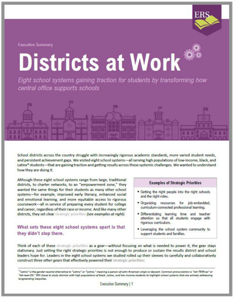 Districts at Work Executive Summary