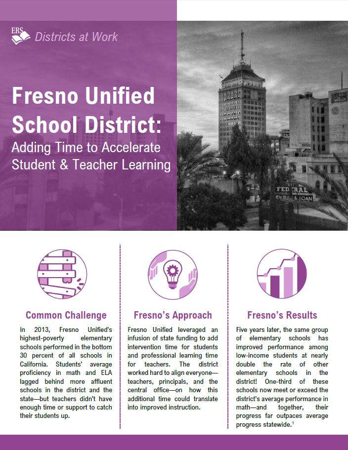 Fresno Unified School District: Adding Time to Accelerate Student and Teacher Learning