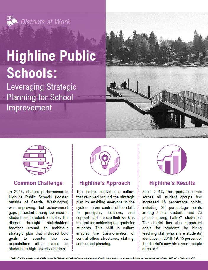 Students Of Color In Low Poverty >> Highline Public Schools Leveraging Strategic Planning For School