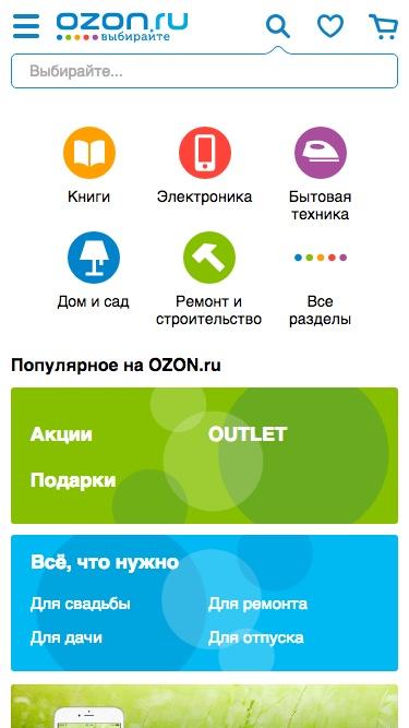 ozon.ru после адаптации