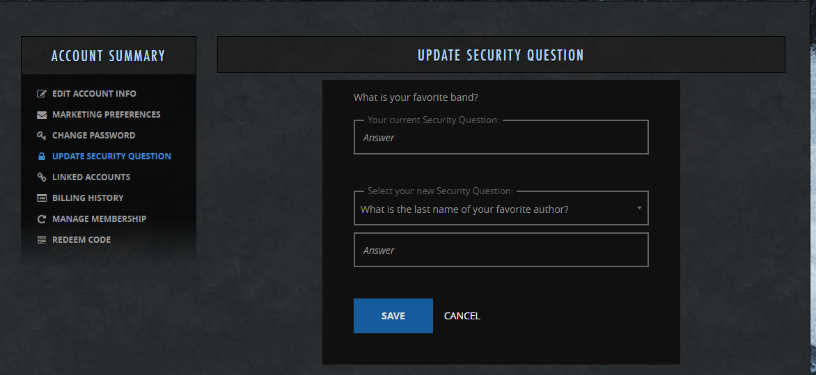 Support | The Elder Scrolls Online