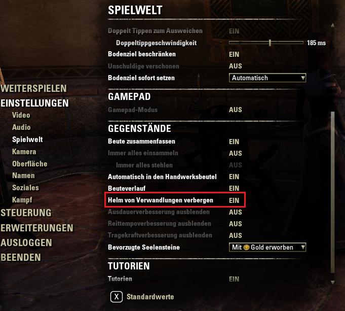 Hilfe The Elder Scrolls Online