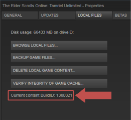 Uninstall and reinstall your local Steam version of ESO