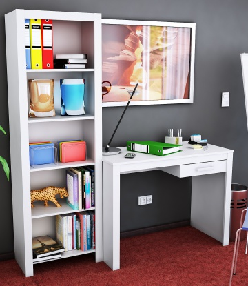 Combo escritorio + biblioteca