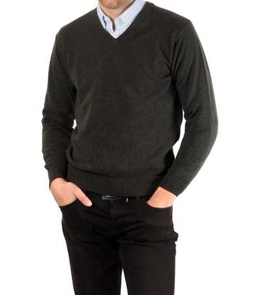 """Sweater de Lana en V sin Pelo ►Usando """"TODO30"""" ► $ 1106"""
