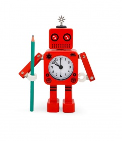 Reloj despertador Roboclock Rojo  Usando SALE50►$235