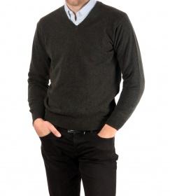 """Sweater de Lana en V sin Pelo ►Usando """"TODO40"""" ► $948"""