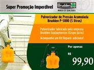 Pulverizador Agrícola Brudden P5000 - 5 litros + Frete Grátis por apenas R$ 99,90.
