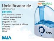 Melhore o Ar de sua Casa! Umidificador de Ar Ultrassônico 4,5 litros + Frete Grátis de R$ 259,00 por apenas R$ 199,90.