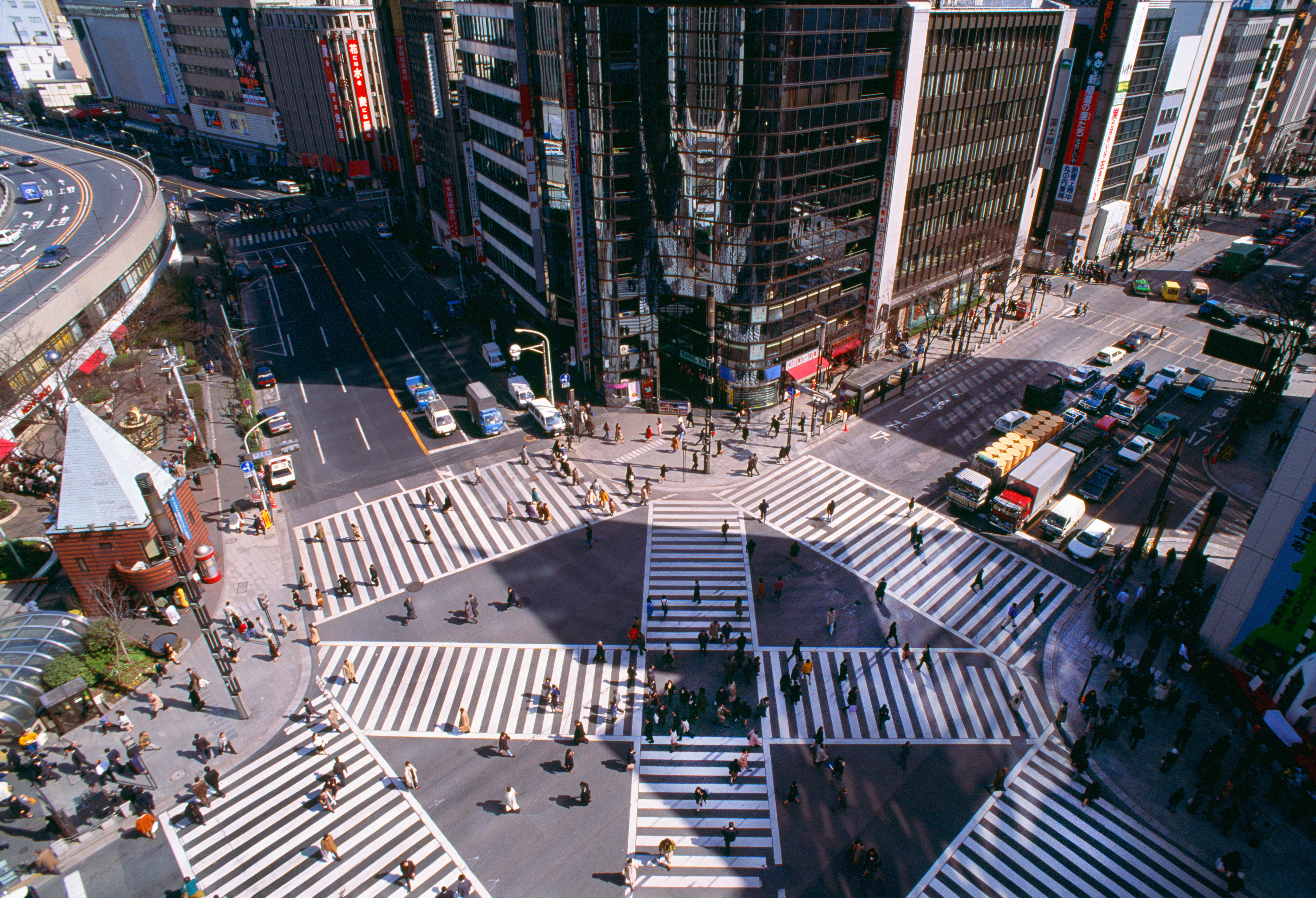 Japan Tokyo, intersection.