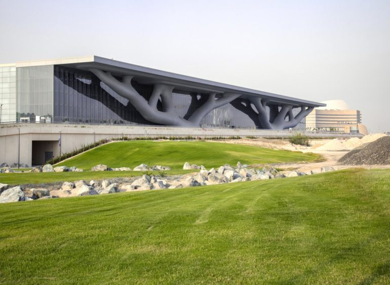 Overall view from southwest, Qatar National Convention Center (2011), Hisao SUZUKI-web