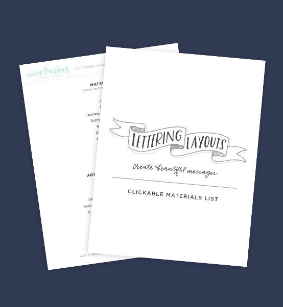 Bonus Lettering Materials